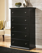 Ashley Maribel Black Five Drawer Chest