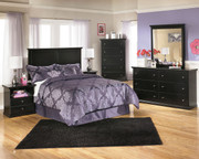 Ashley Maribel Black One Drawer Night Stand