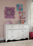 Ashley Exquisite White Dresser