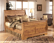 Ashley Bittersweet Light Brown Queen Sleigh Bed