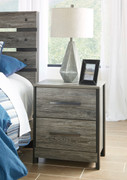 Cazenfeld Black/Gray Two Drawer Night Stand
