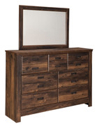 Ashley Quinden Dark Brown Dresser