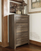 Ashley Juararo Dark Brown Five Drawer Chest