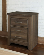 Ashley Juararo Dark Brown Two Drawer Night Stand