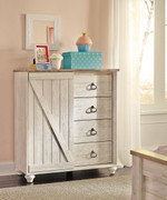 Ashley Willowton Whitewash Dressing Chest