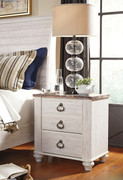 Ashley Willowton Two-tone Two Drawer Night Stand