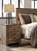 Ashley Trinell Brown Two Drawer Night Stand