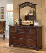 Ashley Leahlyn Warm Brown Dresser