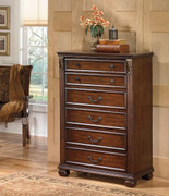 Ashley Leahlyn Warm Brown Five Drawer Chest