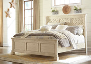 Ashley Bolanburg White King Panel Bed