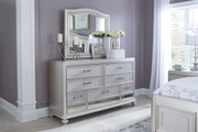 Ashley Coralayne Silver Dresser & Mirror