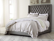 Coralayne Gray Queen Upholstered Bed