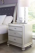 Ashley Coralayne Silver Three Drawer Night Stand