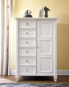 Ashley Prentice White Door Chest