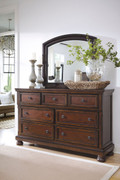 Ashley Porter Rustic Brown Dresser