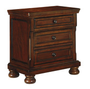 Ashley Porter Rustic Brown Two Drawer Night Stand