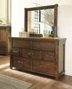 Ashley Lakeleigh Brown Dresser & Mirror