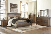 Lakeleigh Brown 6 Pc. Dresser, Mirror, Chest & Queen Panel Bed