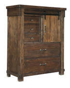 Ashley Lakeleigh Brown Five Drawer Chest