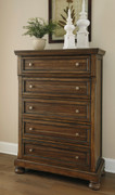 Ashley Flynnter Medium Brown Five Drawer Chest