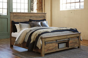 Ashley Sommerford Brown King Storage Bed