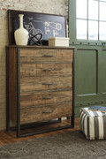 Ashley Sommerford Brown Five Drawer Chest