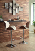 Ashley Adjustable Height Barstools Bone Tall Upholstered Swivel Barstool