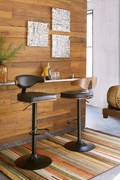 Ashley Adjustable Height Barstools Brown/Black Tall Upholstered Swivel Barstool