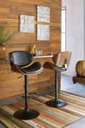 Ashley Adjustable Height Barstools Black Tall Upholstered Swivel Barstool