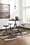 Ashley Odium Brown Dining Room Counter Table Set