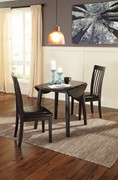 Ashley Hammis 3 Pc. Round Dining Room Drop Leaf Table & 2 Upholstered Side Chairs