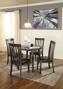 Ashley Hammis 5 Pc. Round Dining Room Drop Leaf Table & 4 Upholstered Side Chairs