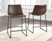 Ashley Centiar Brown/Black Upholstered Barstool