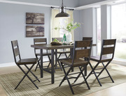 Ashley Kavara Medium Brown 7 Pc. Rectangular Dining Room Counter Table & 6 Barstools