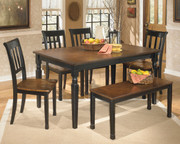 Ashley Owingsville 6 Pc. Rectangular Dining Room Table, 4 Side Chairs & Bench