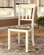 Ashley Whitesburg Brown/Cottage White Dining Room Side Chair