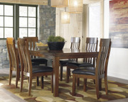 Ashley Ralene Medium Brown 7 Pc. Rectangular Dining Room Butterfly Extension Table & 6 Upholstered Side Chairs