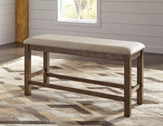 Ashley Moriville Beige Double Upholstered Bench