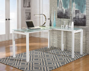 Ashley Baraga White L-Desk