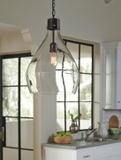 Ashley Avalbane Clear/Gray Glass Pendant Light