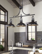 Ashley Joella Bronze Finish Metal Pendant Light