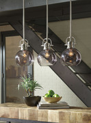 Ashley Johano Gray Glass Pendant Light