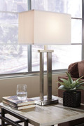 Ashley Aniela Silver Finish Metal Table Lamp