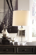 Jaslyn Silver Finish Glass Table Lamp