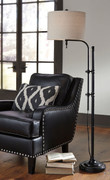 Ashley Anemoon Black Metal Floor Lamp