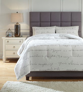 Ashley Adrianna White/Gray King Comforter Set