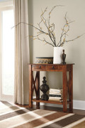 Ashley Abbonto Warm Brown Console Sofa/Couch Table