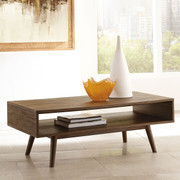 Ashley Kisper Dark Brown Rectangular Cocktail Table