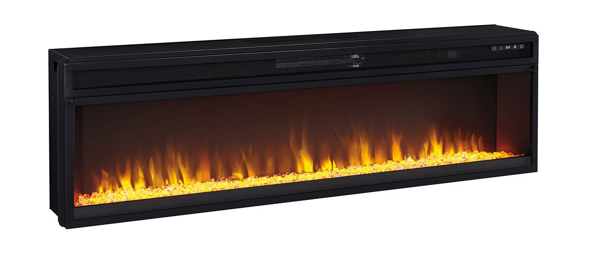 Ashley Entertainment Accessories Black Wide Fireplace Insert On