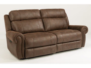 Flexsteel Power Reclining Sofa/Couch with Power Headrest